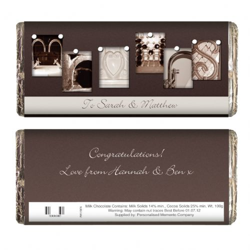 Personalised Affection Art Mr & Mrs Chocolate Bar